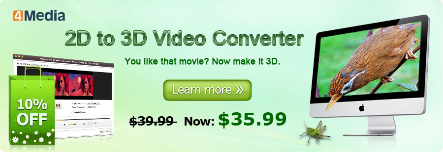 4Media 2D to 3D Converter for Mac