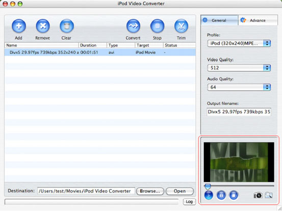 iPod video converting Mac software