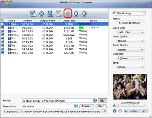 Convert HD video files Mac