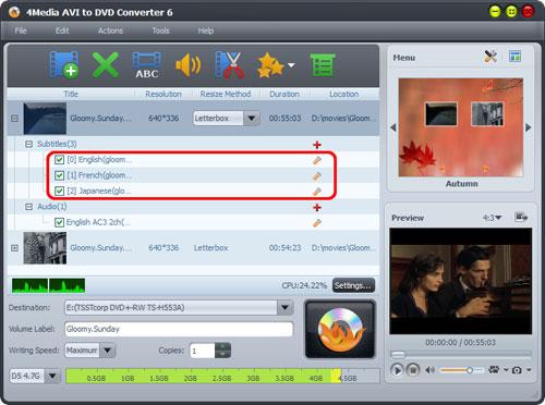 AVI to DVD Converting