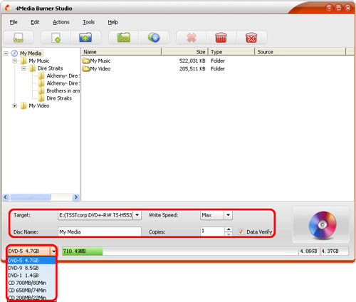 How to burn files to data DVD