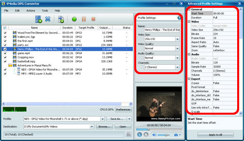 Convert videos to DPG format for Nintendo DS