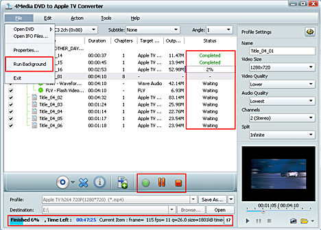 4Media DVD to Apple TV Converter