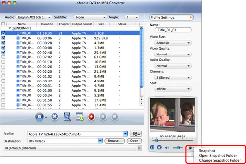 Converting DVD to MP4 format for Mac
