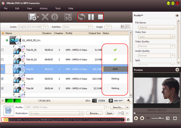How to convert DVD disc to MP4