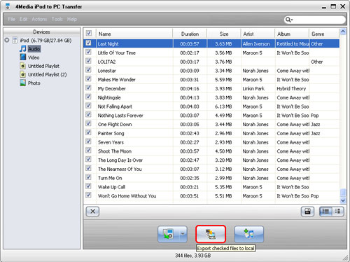 How to transfer iPod to PC