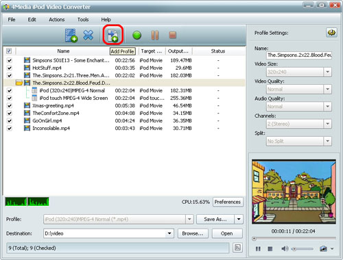 iPod video converter, convert AVI to iPod