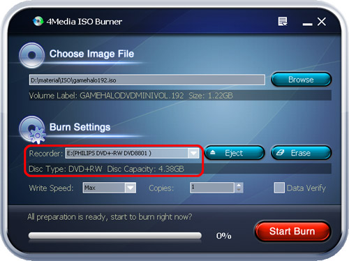 How to burn ISO to DVD