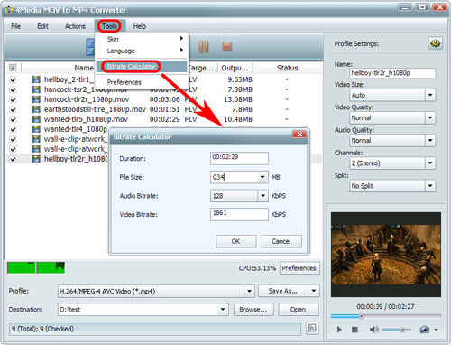How to convert QuickTime MOV to MP4