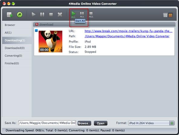 Mac online FLV video converting