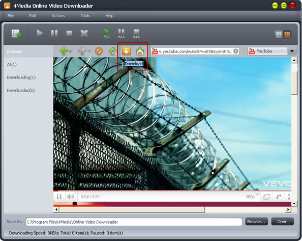 How to download online FLV