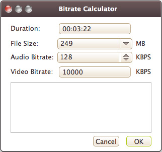 bitarate calculator