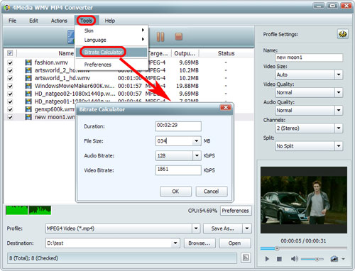 how to change wmv to mp4