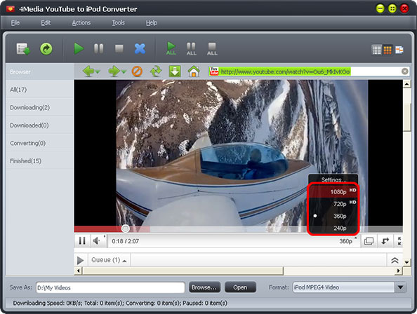 Convert YouTube HD to iPod
