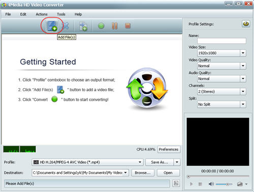 Convert AVCHD to MOV, convert MTS to WMV