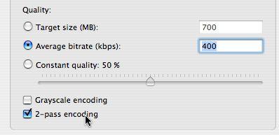 [Handbrake 2-pass encoding setting]